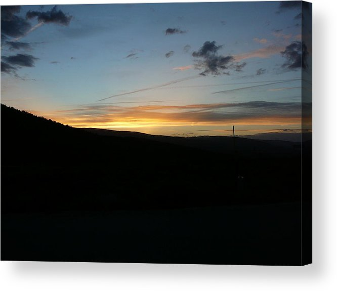 Sunset Acrylic Print featuring the photograph Evening by Debbie Poetsch