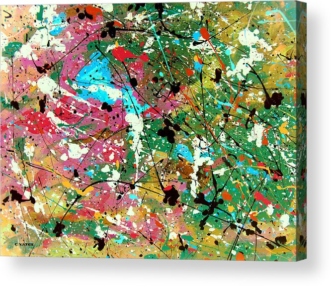 Abstract Acrylic Print featuring the painting Excitation 2 by Charles Yates