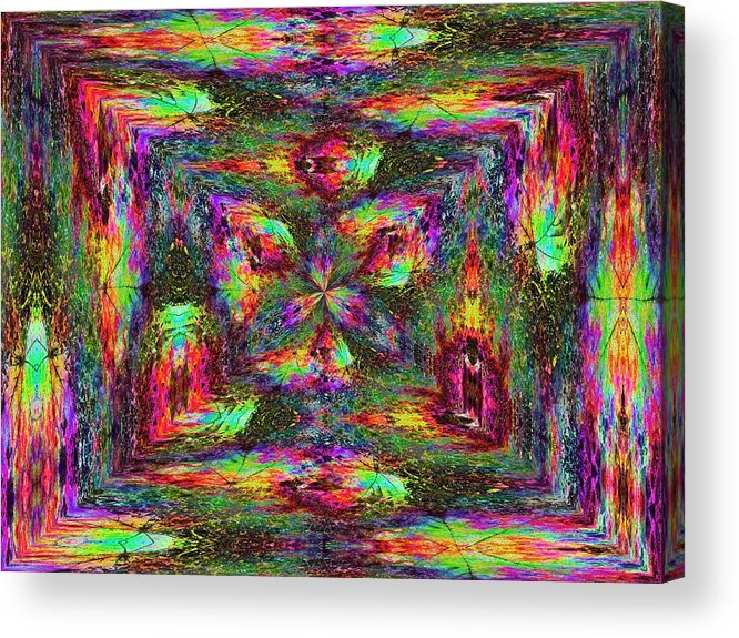 Abstract Acrylic Print featuring the digital art Falling Into Fall by Tim Allen