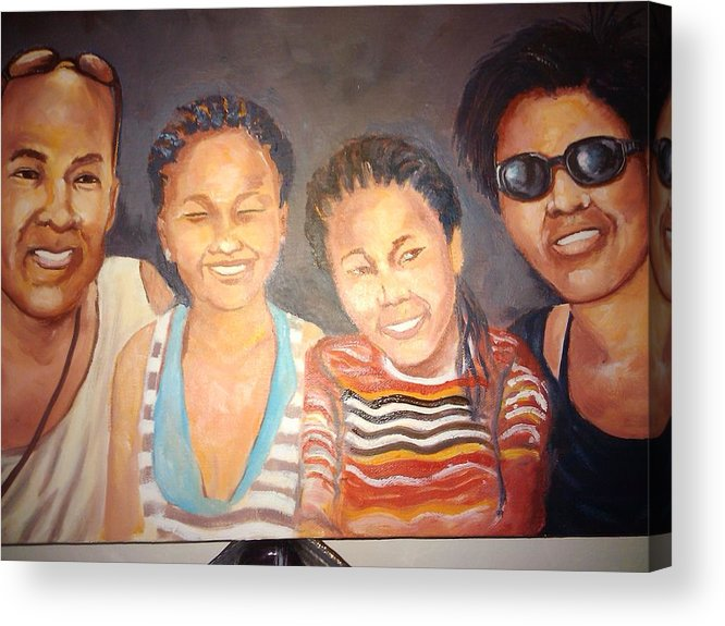 Portrait Acrylic Print featuring the painting Family Portrait by Lennox Thom