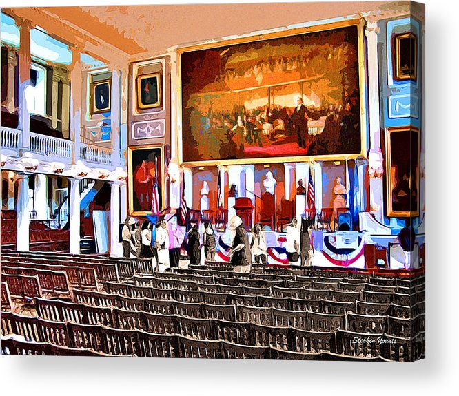Faneuil Hall Acrylic Print featuring the digital art Faneuil Hall by Stephen Younts