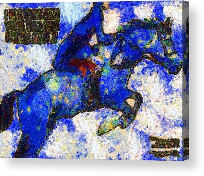 Impressionist Fashion Painting Acrylic Print featuring the painting Fashion 337 by Jacques Silberstein