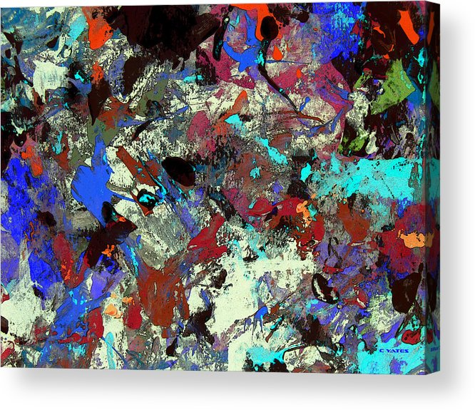 Abstract Acrylic Print featuring the painting Fazaloom by Charles Yates