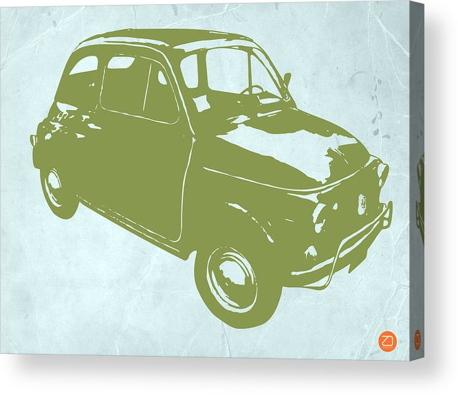 Fiat 500 Acrylic Print featuring the digital art Fiat 500 by Naxart Studio