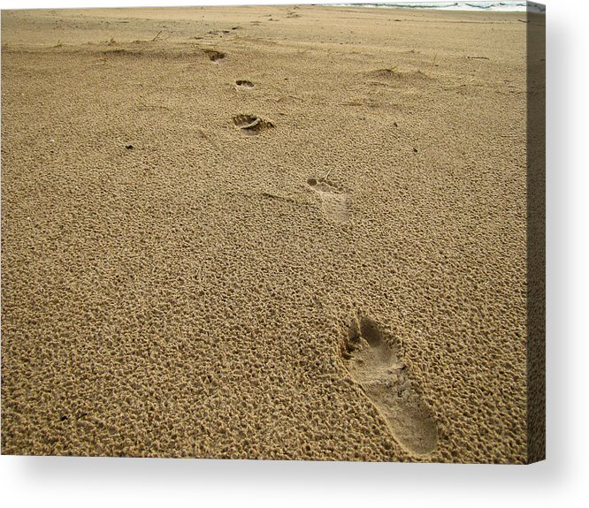 Beach Acrylic Print featuring the photograph Footprints In The Sand by Jeremy Clark
