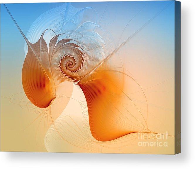 Fractal Acrylic Print featuring the digital art Freedom by Jutta Maria Pusl