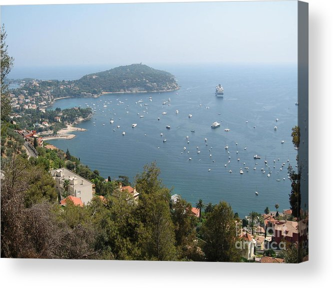 Mediterranean Sea Acrylic Print featuring the photograph French Riviera by Barbara Saccente