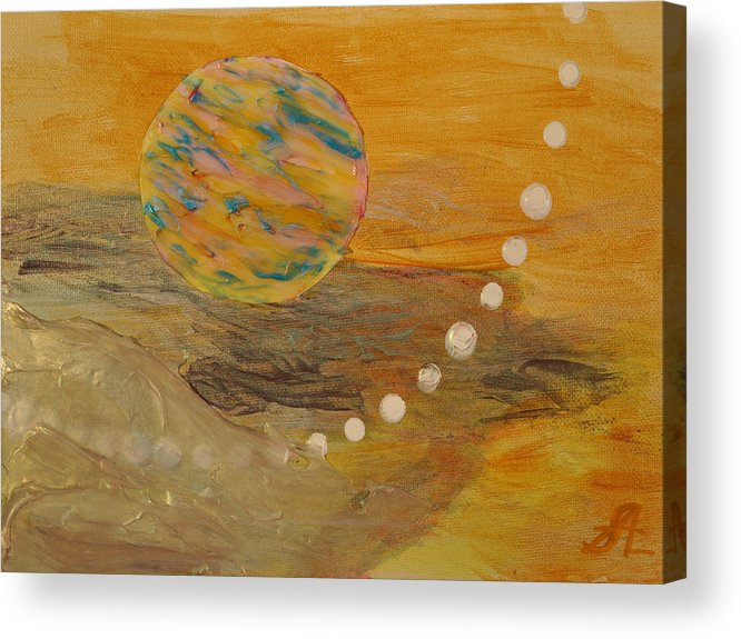 Abstract Acrylic Print featuring the painting From Chaos To Peace by Steven Logan
