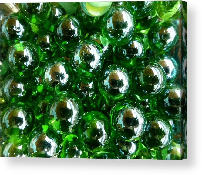 Green Acrylic Print featuring the photograph Green Marbles by Ed Lukas