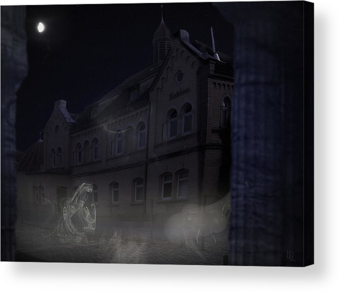 Scary Acrylic Print featuring the digital art Haunted House by Nafets Nuarb