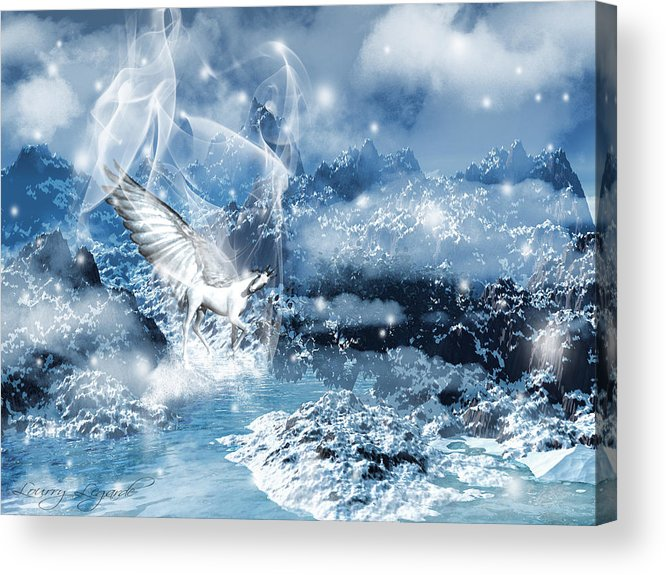 Unicorn Acrylic Print featuring the photograph Heavenly Interlude by Lourry Legarde