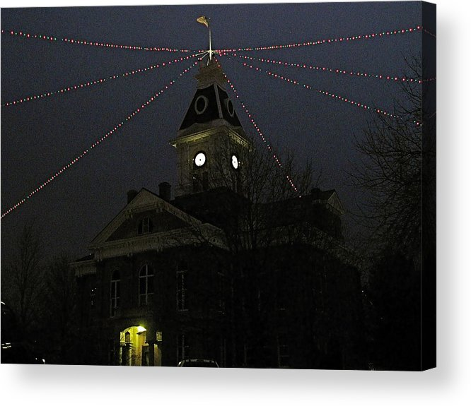 Iowa Acrylic Print featuring the photograph Holiday Courthouse by Big Mike Roate
