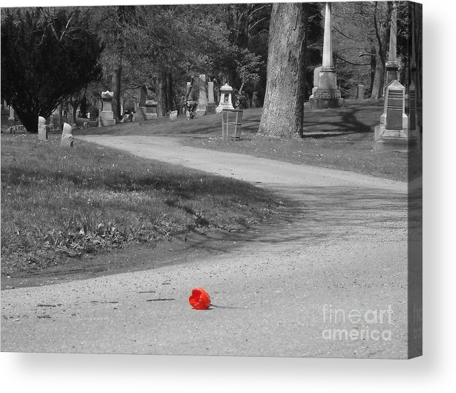 Cemetary Acrylic Print featuring the photograph Hope by Jamie Keeler