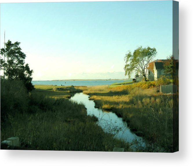 Cape Cod Acrylic Print featuring the painting Hyannis Morn by Douglas Auld