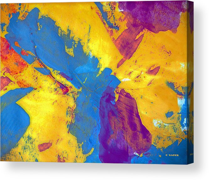 Abstract Acrylic Print featuring the painting I Wish I Had A Knish by Charles Yates