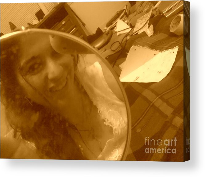 Work Acrylic Print featuring the photograph I'm Only 20 by Kelli Sanchez