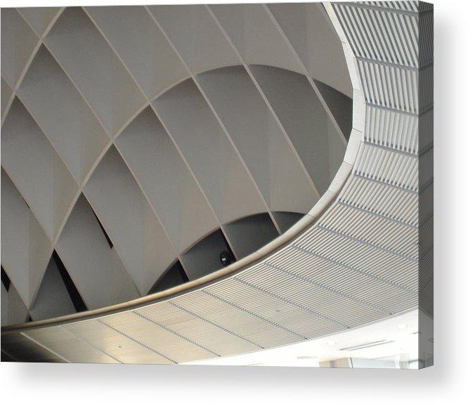Tokyo Acrylic Print featuring the photograph Inside Fuji Building by Naxart Studio