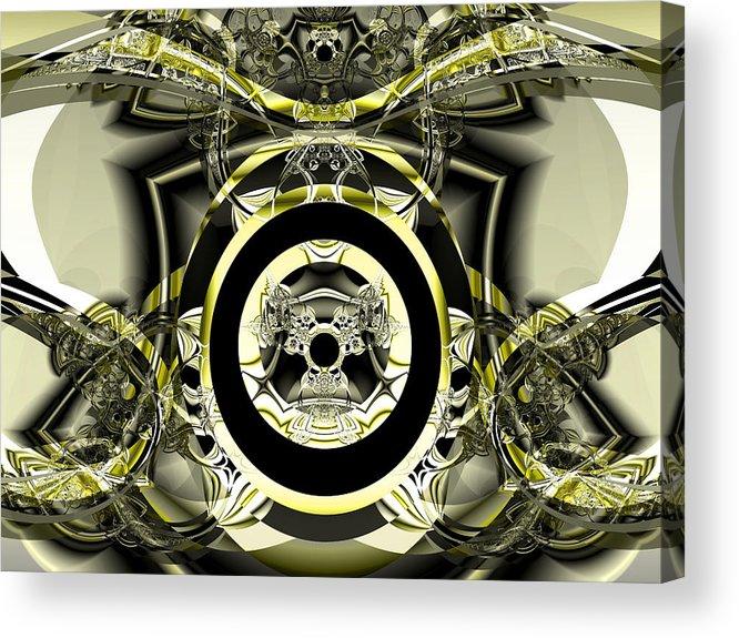 Fractal Art Digital Art Acrylic Print featuring the digital art Iron Work by Frederic Durville