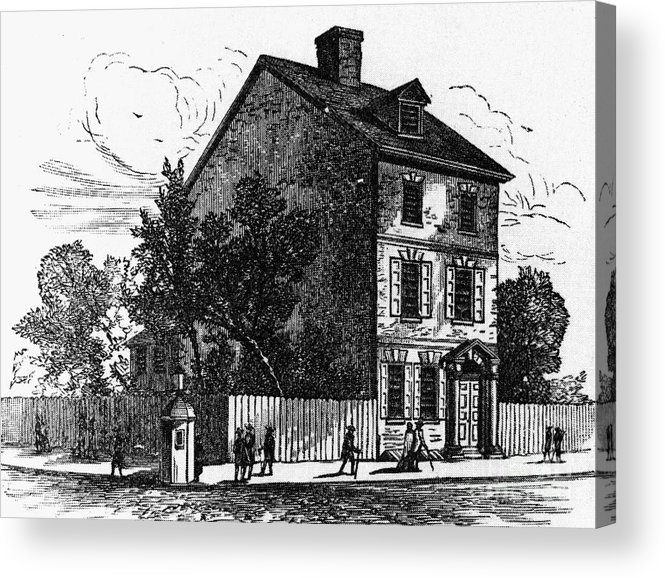 1776 Acrylic Print featuring the photograph Jeffersons House, 1776 by Granger