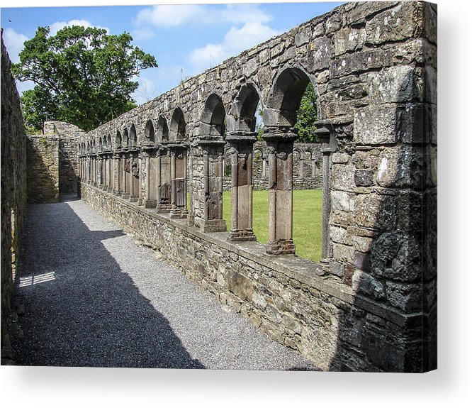 Abbey Acrylic Print featuring the photograph Jerpoint Abbey Arches by Ralph Brannan