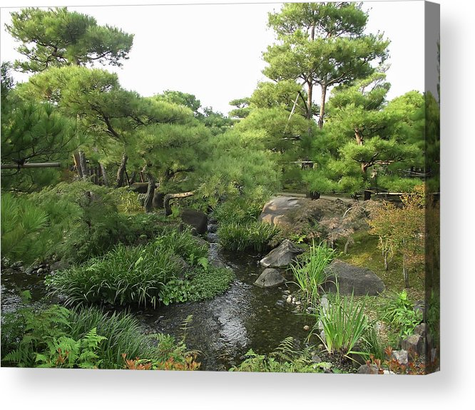 Japan Acrylic Print featuring the photograph Kokoen Samurai Gardens - Himeji City Japan by Daniel Hagerman