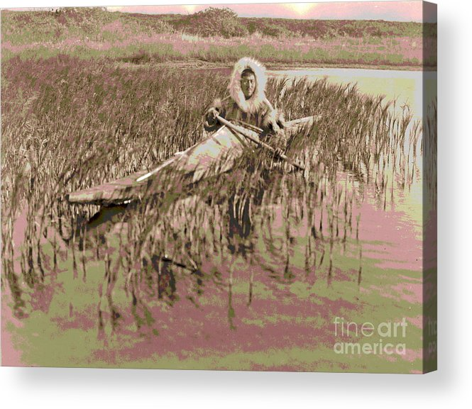 Kotzebue Muskrat Hunter Acrylic Print featuring the photograph Kotzebue Muskrat Hunter by Padre Art