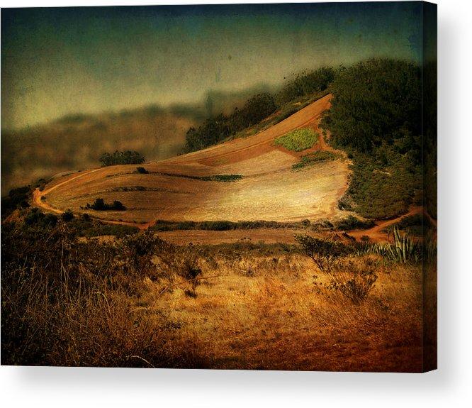 Landscape Acrylic Print featuring the photograph Landscape #20. Winding Hill by Alfredo Gonzalez