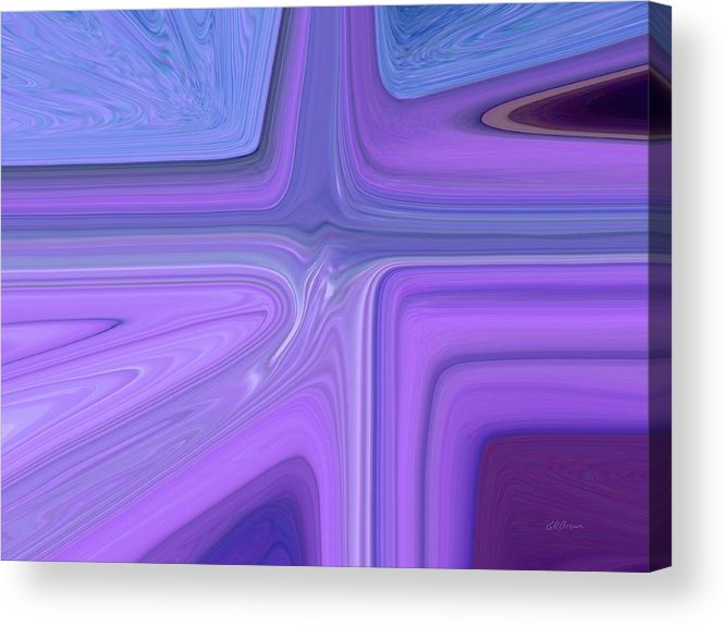 Lavender Acrylic Print featuring the digital art Lavender Bend by Greg Reed Brown