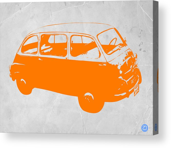 Acrylic Print featuring the drawing Little Bus by Naxart Studio