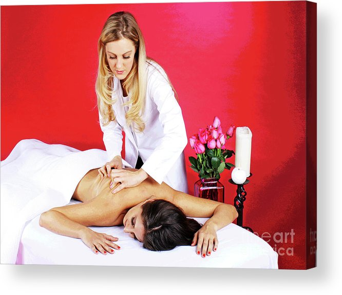 Spa Acrylic Print featuring the photograph Magical Spa Massage by Larry Oskin