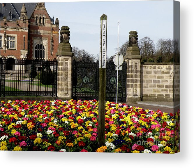 Peace Acrylic Print featuring the photograph May Peace Prevail On Earth by Lainie Wrightson