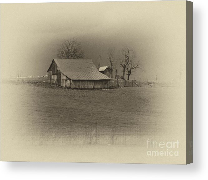 Sepia Acrylic Print featuring the photograph Memories by Cheryl Butler