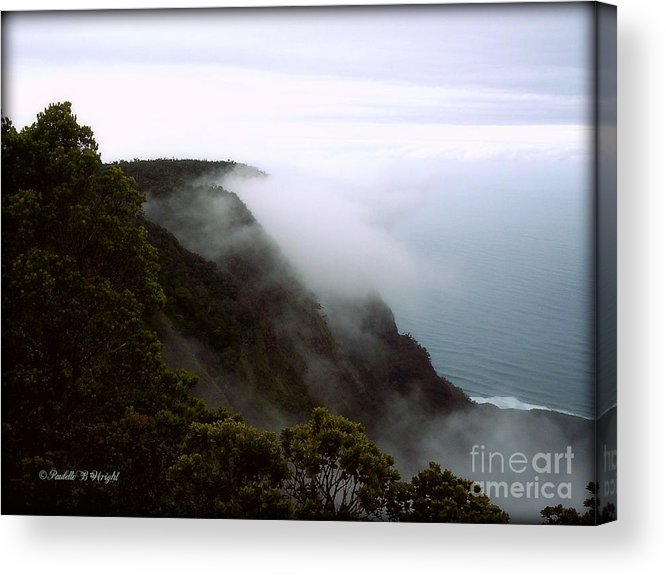 Nature Acrylic Print featuring the photograph Mists Along The Kalalau Valley by Paulette B Wright
