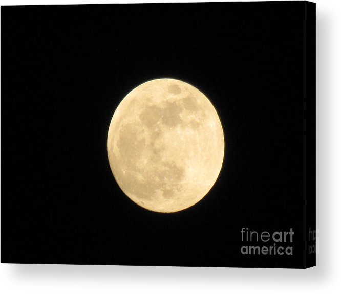 Astronomy Acrylic Print featuring the photograph Moon In Galaxy Venus by Michelle Powell