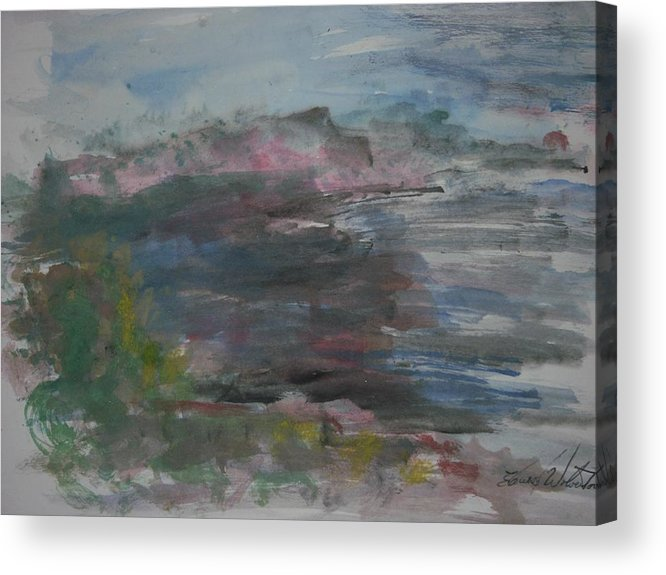 Morning Acrylic Print featuring the painting Morning At Point Sur by Edward Wolverton