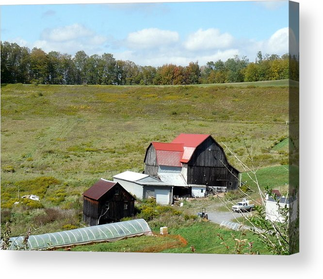Architecture Acrylic Print featuring the photograph Mountain Farm by John Turner