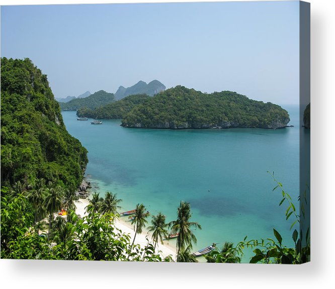 Angthong Acrylic Print featuring the photograph Mu Ko Ang Thong Marine National Park by Nawarat Namphon