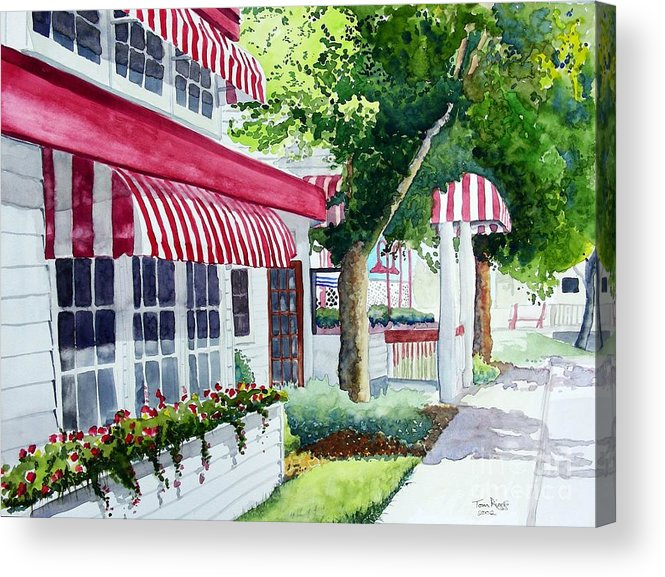 Watercolor Acrylic Print featuring the painting Nate's by Tom Riggs
