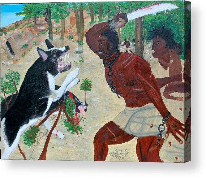 Nicole Jean-louis-neg Mawon Haiti 1791 Acrylic Print featuring the painting Neg Mawon Haiti 1791 by Nicole Jean-Louis