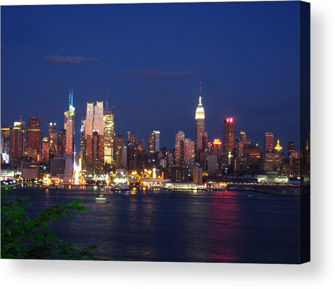 Manhattan Acrylic Print featuring the photograph New York City by Oscar Rodriguez