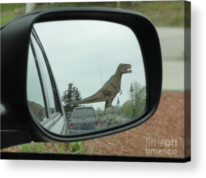 Objects In Mirror May Be Closer Than >> Objects In Mirror May Be Closer Than They Appear Acrylic Print By