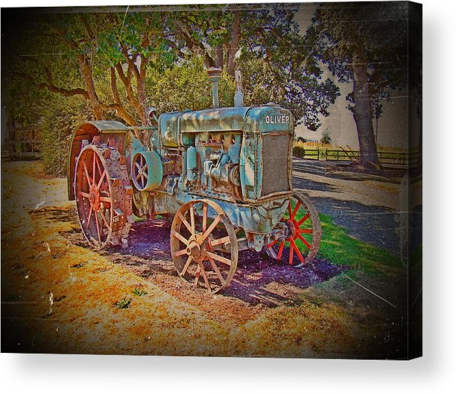 Oliver Tractor Acrylic Print featuring the photograph Oliver Tractor 2 by Nick Kloepping