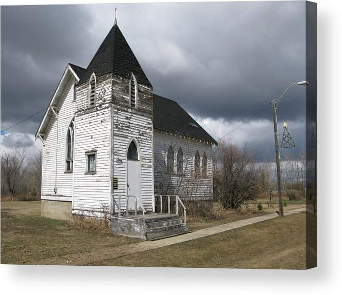 Ominous Acrylic Print featuring the photograph Ominous Church by Brian Sereda
