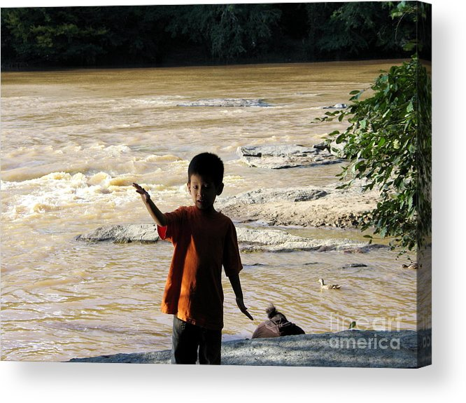 Chattahoochee Acrylic Print featuring the photograph On The Bank Of The River by Renee Trenholm