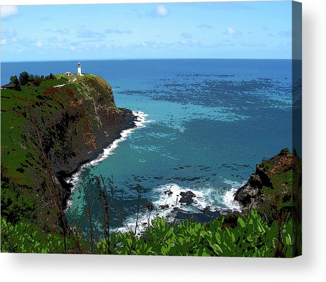 Ocean Acrylic Print featuring the photograph On The Point by Joanne Riske
