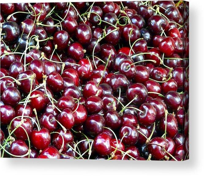 Fresh Cherries Acrylic Print featuring the photograph Paris Cherries by Rdr Creative