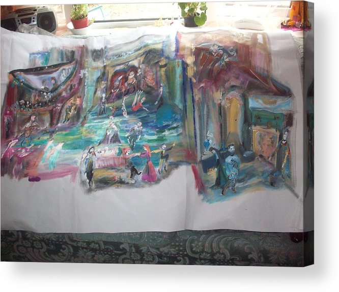 Play Acrylic Print featuring the painting Play Time For Tudors by Judith Desrosiers
