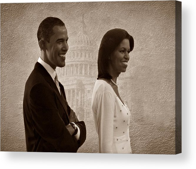 President Obama Acrylic Print featuring the photograph President Obama And First Lady S by David Dehner