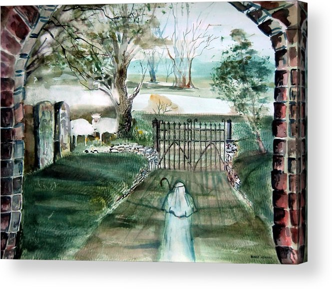 Pastoral Acrylic Print featuring the painting Psalm 23 by Mindy Newman