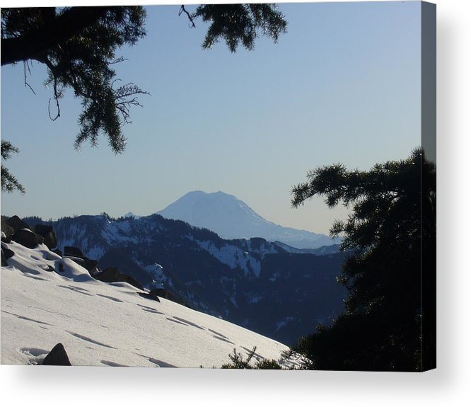 Landscape Acrylic Print featuring the photograph Rainier by Mark Camp
